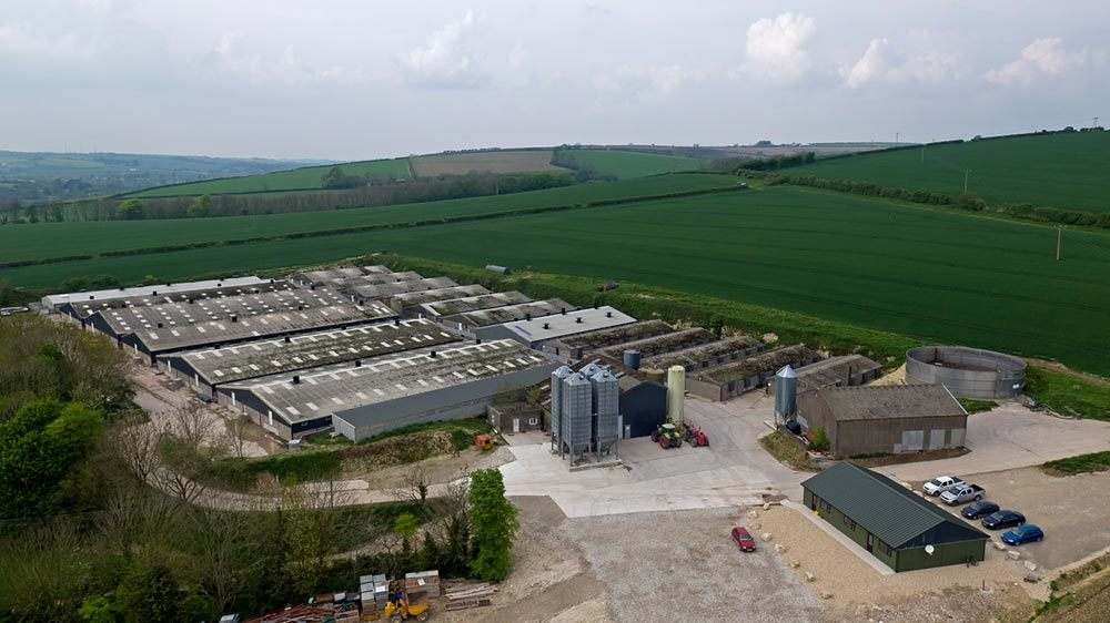 Aerial Photography for a Farm in Dorset