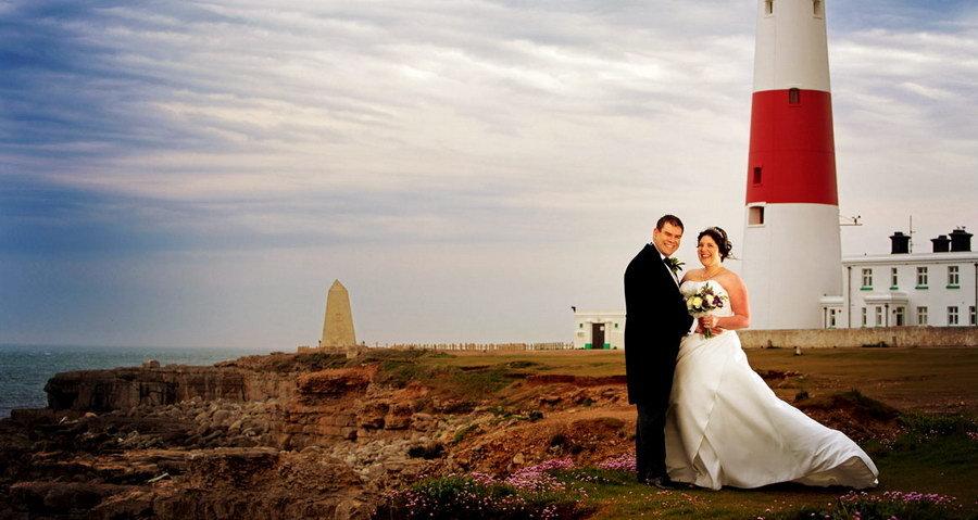 Newly Weds on Portland Near the Lighthouse
